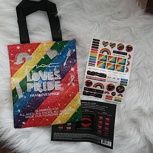 New MAC Loves Pride Gift bag with stickers
